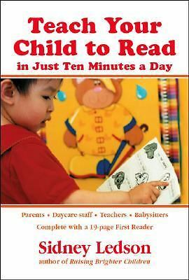 Teach Your Child to Read in Just Ten Minutes a Day, Sidney Ledson, Good Book