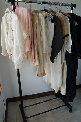 GREAT 16 PC LOT of ANTiQUE ViNTAGE EDWARDiAN CLOTHiNG DRESSES BLOUSE SKiRT