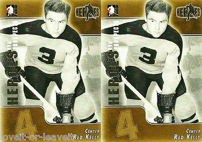 2x ITG HEROES & PROSPECTS 2006 RED KELLY NHL HOCKEY LEGEND HERO #148 LOT