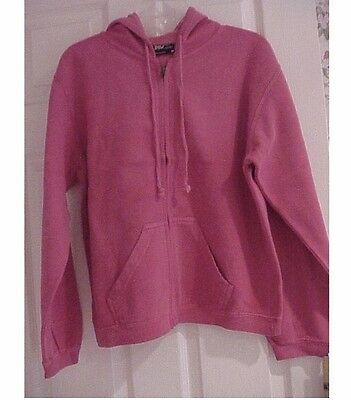 Women's hoodie sweatshirt zippered pink size medium brand new with tags superior