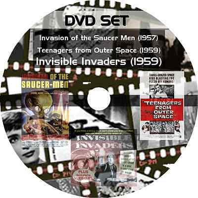 * INVASION OF THE SAUCER MEN & TEENAGERS FROM OUTER SPACE & INVISIBLE INVADERS *
