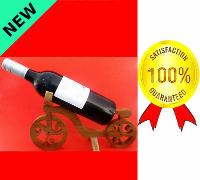 Any Day Gift Boxed Single Tabletop Premium Carbonized Bamboo Wine Rack Holder