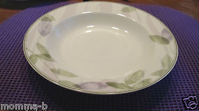 PIER 1 AMBROSIA  SOUP CEREAL BOWL LAVENDER PURPLE WHITE GREEN