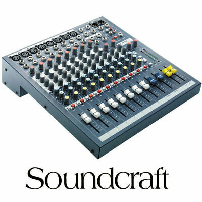 Soundcraft EPM8 8 Channel XLR Mixer with 2x Stereo inputs Mixing Desk