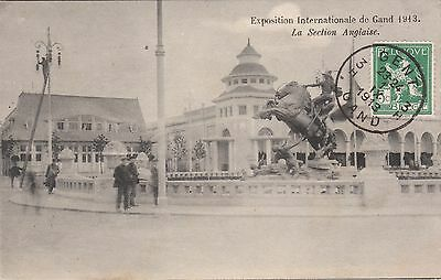 Cpa Exposition Internationale De Gand 1913 La Section Anglaise