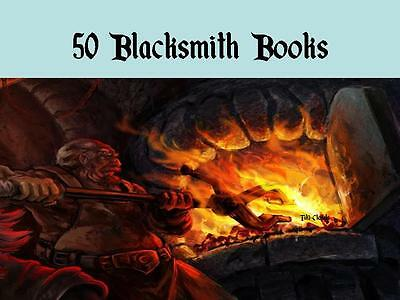 50 Blacksmith and Metal Working Books Self Sufficiency Off the Grid Survival CD