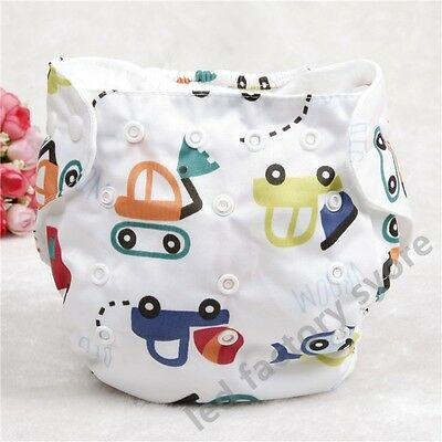 1pcs Cute Car Vehical Reusable Washable Baby Soft cloth Diaper Nappy Cover
