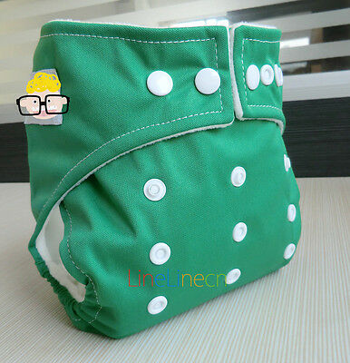 New Green Baby Infant adjustable reusable cloth diaper nappy Pocket cover D01