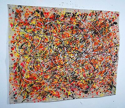 Large Abstract Painting  Modern Contemporary Oil on Canvas Wall Art Decor