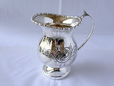 Vintage silverplated hand engraved cream jug from Cooper Bros. & Sons Sheffield