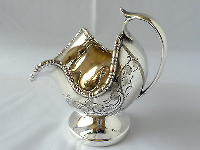 Vintage silverplated hand engraved sugar scuttle from Cooper Bros. & Sons