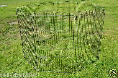 "New 30"" Wire Folding Pet Crate Dog Cat Cage Suitcase Exercise Playpen"