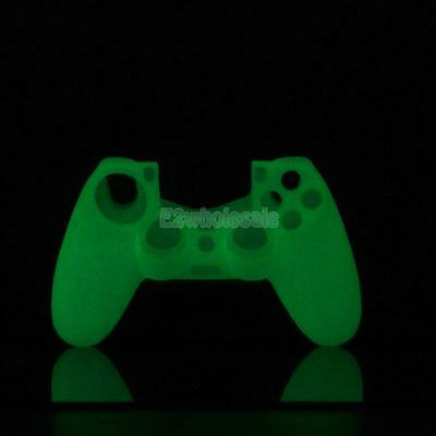 White Glow Noctilucence Silicone Skin Case Cover for Sony PS4 Controller