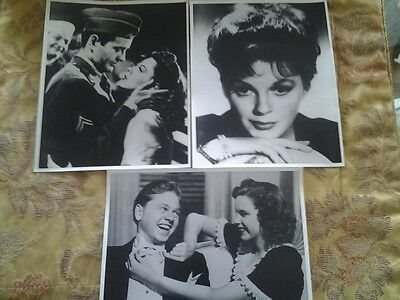 JUDY GARLAND- SET OF 3- VINTAGE BLACK & WHITE PHOTOS FROM THE 80s..