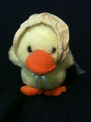 A&A PLUSH YELLOW BABY CHICK with Bonnet  51/2""