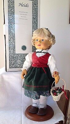 Beautiful WOODEN Collector Heidi Doll by The Hamilton Collection