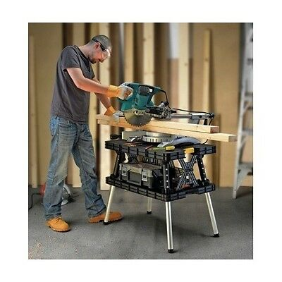 Heavy Duty Workbench Garage Job Site Home Shop  Folding Easy Storage Tool Table