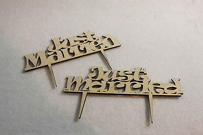 Just Married Wooden Wedding CakeTopper Love Acrylic Anniversary Decor Sings