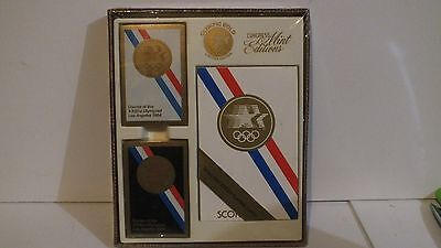 1984 LA Olympics Congress Mint Editions Sealed In Box Cards E19