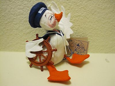 """ANNALEE 5"""" SAILOR DUCK – NWT -1995 - #1724 - too cute for words!"""