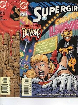 lot of 4 comics Supergirl #67, 71, 72, and Team Luthor #1 (D.C.)