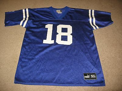 Peyton Manning #18 Indianapolis Colts Puma Jersey Youth Size XL 18-20 EUC
