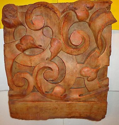 Fabulous Architectural Wall Hanging with Wood, Resin, Hair &  Unknown Ingredient