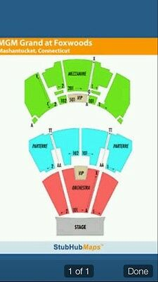 2 Tix R. Kelly 7/19 Grand Theater Foxwoods Parterre Left Row CC 3rd Row Parterre
