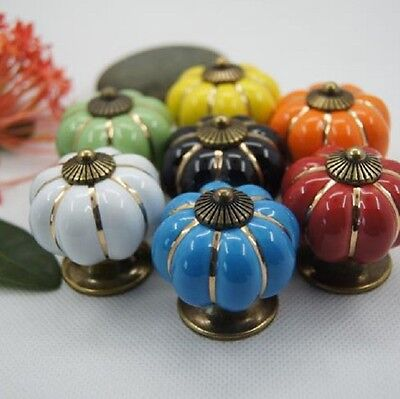 Ceramic & Alloy Furniture Door Drawer Pulls Kitchen Cabinet Handle and Knob W