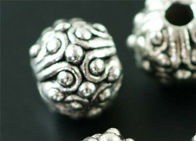 6pcs Tibet Silver beads Spacer Jewelry Making Findings 10x8mm T1291