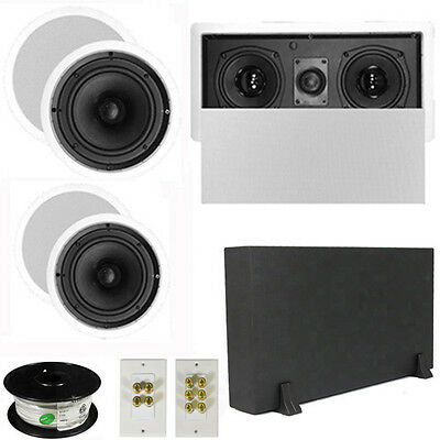 "5.1 Home Theater 8"" & 6.5"" Speakers, Center, 8"" Powered Sub & More TS6C8CL51SET1"