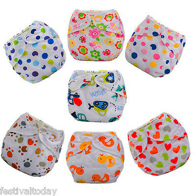 Washable Baby Infant Cartoon Cloth Diapers Nappy Covers Liner Microfiber Insert
