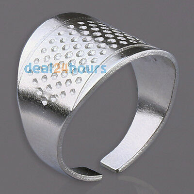 New Thimbles Adjustable Size Ring Thimble Sewing Craft Accessories Silver