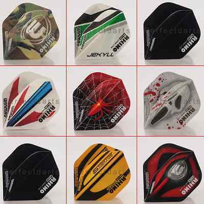 10 x SETS WINMAU RHINO PLUS 150 MICRON DARTS FLIGHTS - Super Tough - 8 Designs