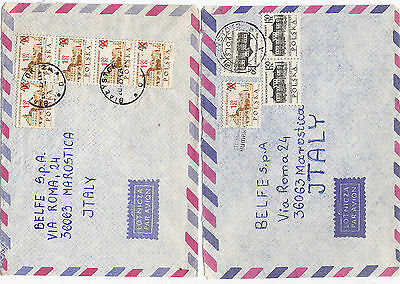 POLAND 1972/74 two covers st. air mail to ITALY