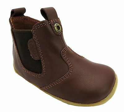 Bobux Jodphur Baby Boy's Brown Zip Up Chelsea Style Dealer Ankle Boots New