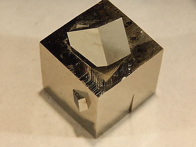 One Big SQUARE PYRITE Crystal Cube with 3 Small TwinS Spain 100% Natural 173.3