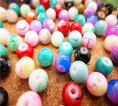 NEW 50pcs 6mm stripe Ball crystal Beads for Fit Bracelets Necklaces Charm ZM17