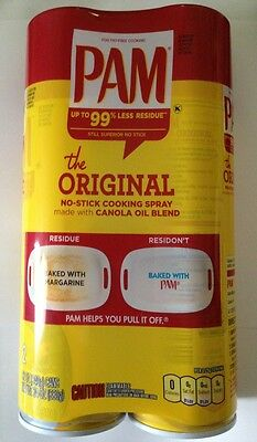 2-Pack Pam Original No-Stick Cooking Spray LARGE 12 Oz Cans  New!
