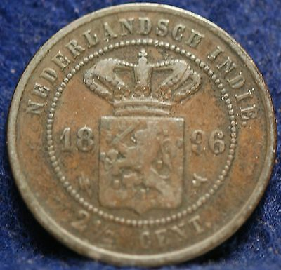 Netherlands East Indies, 1896 2-1/2 Cents, Fine
