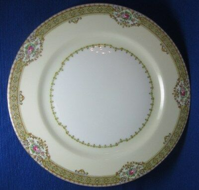 """FINE VINTAGE CHINA DINNER PLATE - """"ANNETTE"""" BY MEITO CHINA, JAPAN - ROSE GOLD"""