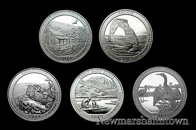2014 S America the Beautiful National Parks ~ Mint Clad Proof Set in Coin Flips