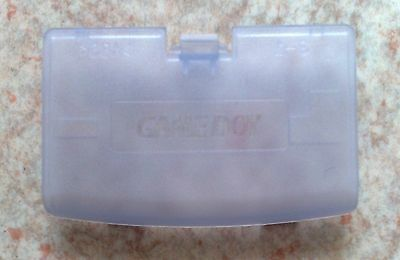 "NEW Clear Purple ""Glacier"" Battery Cover - Game Boy Advance - Gameboy GBA Atomic"