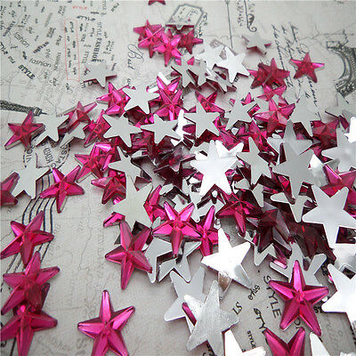 NEW DIY 50pcs Resin Pointed star  Flat back Scrapbooking For DIY craft FN08