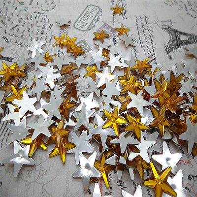 NEW DIY 50pcs Resin Pointed star  Flat back Scrapbooking For DIY craft FN05