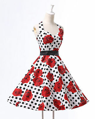 SPECIAL OFFER WOMENS 40's 50's RETRO VINTAGE STYLE ROCKABILLY TEA DRESSES SIZE M