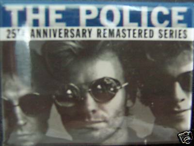 The Police - Sting - 25th Anniversary Promotional Button - NM