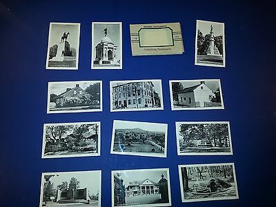 Gettysburg,PA Antique Souvenir Prints Packs 12 Photos Free Shipping