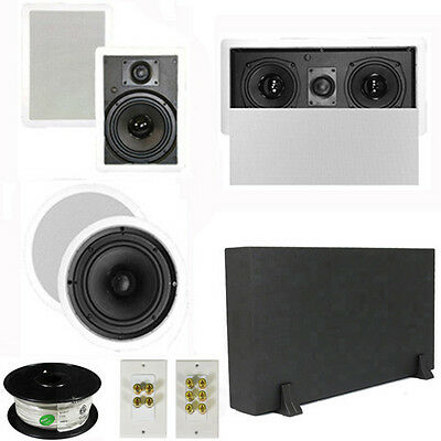 "5.1 Home Theater 8"" & 6.5"" Speakers, Center, 8"" Powered Sub & More TS6W8CL51SET1"