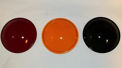 Antique Traffic Stop Light Signal Lenses Red Yellow Amber Green